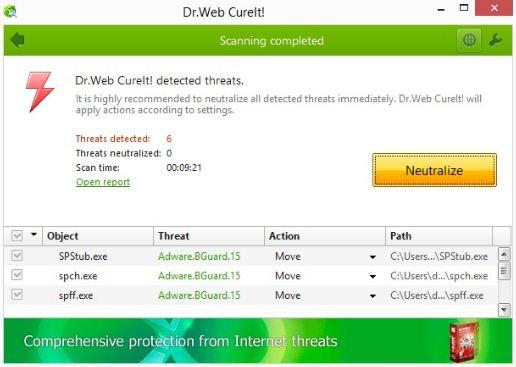Dr.Web CureIt! Latest Version