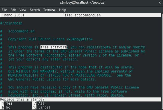 GNU nano Latest Version