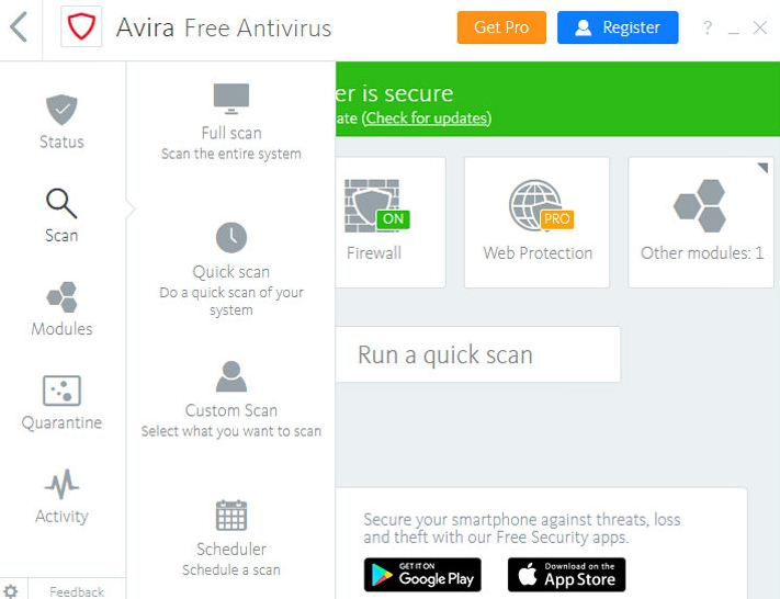 Avira Free Antivirus 2019 Latest Version