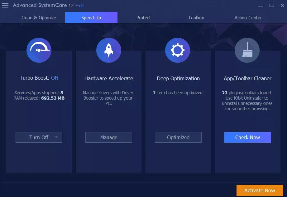 IObit Advanced SystemCare Free Latest Version